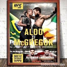 Coleccionismo deportivo: UFC ALDO VS MCGREGOR POSTER EN CUADRO PARA COLGAR. Lote 268098324
