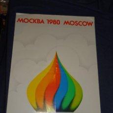 Coleccionismo deportivo: (M) CARTEL ORIGINAL - OLIMPIADA MOCKBA 1980 MOSCOW, 37X57CM, SEÑALES DE USO NORMALES. Lote 274185133