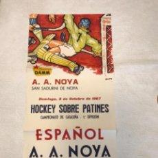Coleccionismo deportivo: CARTEL HOCKEY PATINES ESPAÑOL-NOIA 1967.. Lote 275218188