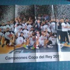 Coleccionismo deportivo: PÓSTER REAL MADRID CAMPEON COPA DEL REY 2015 BALONCESTO. Lote 275652388