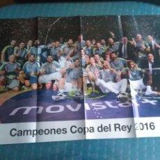 Coleccionismo deportivo: PÓSTER REAL MADRID CAMPEON COPA DEL REY 2016 BALONCESTO. Lote 275652533