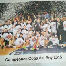 Coleccionismo deportivo: PÓSTER R. MADRID BALONCESTO. Lote 275919203