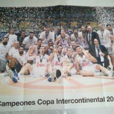 Coleccionismo deportivo: PÓSTER R. MADRID BALONCESTO. Lote 275919703