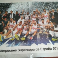 Coleccionismo deportivo: PÓSTER R. MADRID BALONCESTO. Lote 275920213