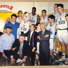 Coleccionismo deportivo: REAL MADRID (CAMPEÓN DE LIGA BALONCESTO 1992-93). POSTER DE LA REVISTA GIGANTES.. Lote 276181113