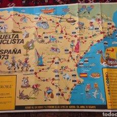 Coleccionismo deportivo: VUELTA CICLISTA A ESPAÑA 1973, CARTEL ORIGINAL, BUEN TAMAÑO, BUEN ESTADO, VED FOTOS. Lote 276755353