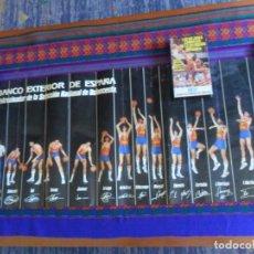 Coleccionismo deportivo: CARTEL BANCO EXTERIOR PATROCINADOR DE ESPAÑA SELECCIÓN ESPAÑOLA BALONCESTO CON VHS DE REGALO. RARO.. Lote 277580068