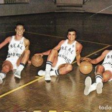 Coleccionismo deportivo: REAL MADRID BALONCESTO ( BASKET ): RECORTE DE JUAN ANTONIO CORBALÁN,VICENTE RAMOS Y CARMELO CABRERA.. Lote 277844078
