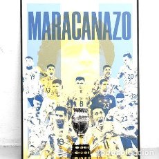 Coleccionismo deportivo: POSTER MARACANAZO 35X25 ARGENTINA CAMPEON DE AMERICA 2021. Lote 278911673