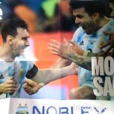 Coleccionismo deportivo: POSTER DOBLE OLE 157 ARGENTINA CAMPEON COPA AMERICA MESSI. Lote 278913173