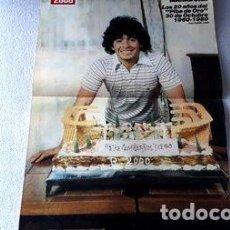 Coleccionismo deportivo: POSTER INEDITO MARADONA REVISTA RADIOLANDIA 1980. Lote 278913183