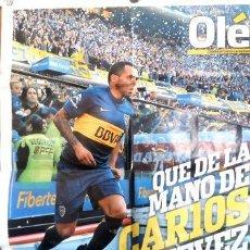 Coleccionismo deportivo: POSTER OLE CARLOS TEVEZ DE BOCA JUNIORS CANON AP RB21. Lote 278914693