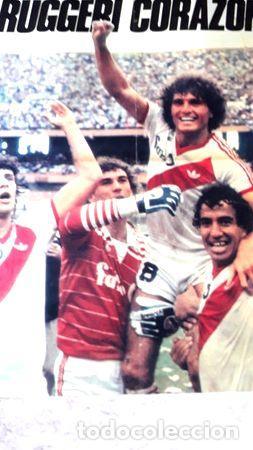 POSTER RUGGERI CORAZON RIVER 1 BOCA 0 EN 1985 (Coleccionismo Deportivo - Carteles otros Deportes)