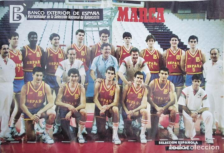 POSTER SELECCIÓN ESPAÑOLA DE BALONCESTO EUROBASKET ATENAS-87 (Coleccionismo Deportivo - Carteles otros Deportes)