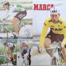 Coleccionismo deportivo: POSTER VUELTA CICLISTA A ESPAÑA 1987. MIGUEL INDURAIN - SEAN KELLY - PELLO RUIZ CABESTANY…. Lote 286490948