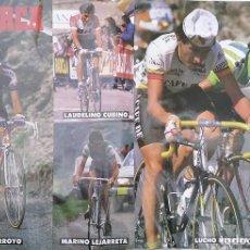 Coleccionismo deportivo: POSTER VUELTA CICLISTA A ESPAÑA 1987. LUCHO HERRERA Y VICENTE BELDA - Á. ARROYO - LAUDELINO CUBINO…. Lote 286491498