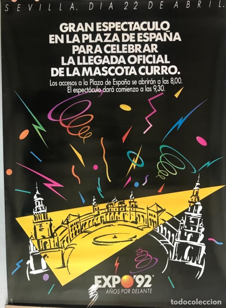 CARTEL FIESTAS EXPO SEVILLA 92. ORIGINAL (Coleccionismo Deportivo - Carteles otros Deportes)