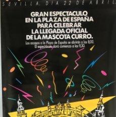Coleccionismo deportivo: CARTEL FIESTAS EXPO SEVILLA 92. ORIGINAL. Lote 286698063