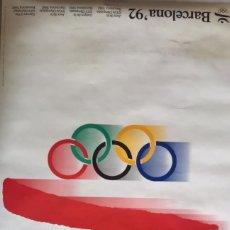 Coleccionismo deportivo: CARTEL LOGO OLIMPIADAS BARCELONA 92. Lote 286699848