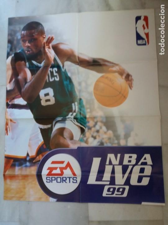 CARTEL. ORIGINAL, NBA LIVE 99. MEDIDAS. 85 X 68CTMS. (Coleccionismo Deportivo - Carteles otros Deportes)