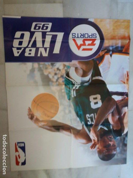 Coleccionismo deportivo: CARTEL. ORIGINAL, NBA LIVE 99. MEDIDAS. 85 X 68CTMS. - Foto 2 - 286752613