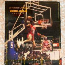 Coleccionismo deportivo: POSTER MICHAEL JORDAN - BASKET, BALONCESTO - REY DEL MATE 1987. MIDE 86X58CMS. VER FOTOS. Lote 288217248