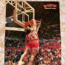 Coleccionismo deportivo: POSTER MICHAEL JORDAN AIR - BASKET, BALONCESTO - GIGANTES DEL BASKET. MIDE 42X28CMS. VER FOTOS. Lote 288218003