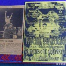 Coleccionismo deportivo: CARTEL KICK BOXING NOCHE DE ACCIÓN MIGUEL ÁNGEL TYPHOON BERLANGA. REGALO DE JULIO CÉSAR CHÁVEZ. MBE.. Lote 288312543