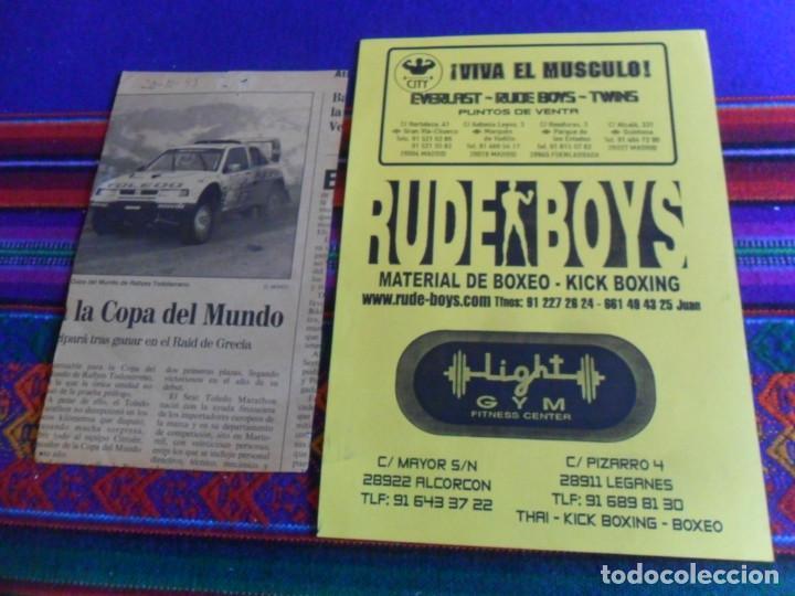 Coleccionismo deportivo: CARTEL KICK BOXING NOCHE DE ACCIÓN MIGUEL ÁNGEL TYPHOON BERLANGA. REGALO DE JULIO CÉSAR CHÁVEZ. MBE. - Foto 5 - 288312543
