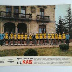 Coleccionismo deportivo: CARTEL DEL EQUIPO CICLISTA S.D. KAS (1972).. Lote 288877078