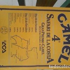 Coleccionismo deportivo: POSTER SAFARI DE LA COSTA CAMEL 1985. Lote 288935173