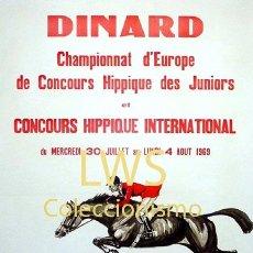 Coleccionismo deportivo: DINARD CONCOURS HIPPIQUE - IMÁGENES CABALLERÍA - CABALLOS - EQUITACIÓN - HÍPICA. Lote 295737843