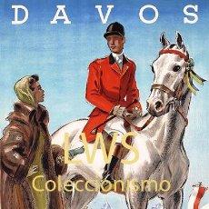 Coleccionismo deportivo: DAVOS CONCOURS HIPPIQUE - IMÁGENES CABALLERÍA - CABALLOS - EQUITACIÓN - HÍPICA. Lote 295737978