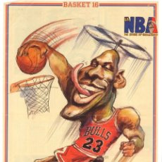 Coleccionismo deportivo: POSTERS CARICATURAS NBA. Lote 296868588