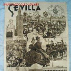 Carteles Feria: CARTEL FIESTAS PRIMAVERA SEVILLA AÑO 1936. Lote 12712069