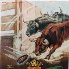 Carteles Feria: CARTEL FERIAS Y FIESTAS SAN FERMIN PAMPLONA 1955. Lote 23681574
