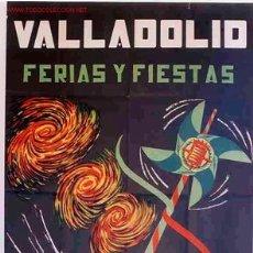 Carteles Feria: CARTEL FERIAS Y FIESTAS VALLADOLID 1959. Lote 17487543
