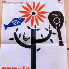 Carteles Feria: CARTEL FIESTAS DE PRIMAVERA MURCIA 1962. Lote 156761953