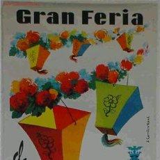 Carteles Feria: CARTEL FERIA DE VALENCIA 1963 LITOGRAFICO. Lote 17464093