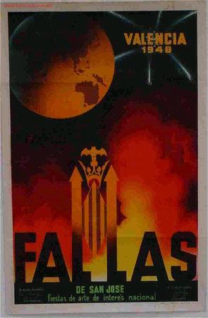 CARTEL FALLAS VALENCIA 1948 (Coleccionismo - Carteles Gran Formato - Carteles Ferias, Fiestas y Festejos)