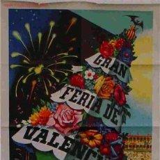 Carteles Feria: CARTEL FERIA DE VALENCIA 1956 A.PERIS. Lote 15696565