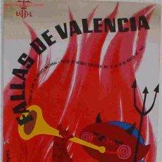 Carteles Feria: CARTEL FALLAS DE VALENCIA 1967. Lote 144604796
