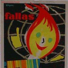 Carteles Feria: CARTEL FALLAS DE VALENCIA 1962 MINGUEZ. Lote 23817161