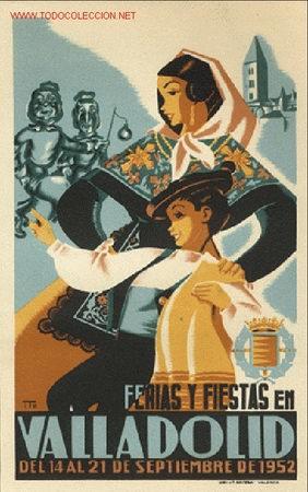 CARTEL ITO Nº 19 FIESTAS VALLADOLID 1952 (Coleccionismo - Carteles Gran Formato - Carteles Ferias, Fiestas y Festejos)