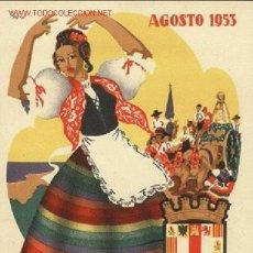 Carteles Feria: CARTEL ITO Nº 59 FIESTAS ALMERIA 1953. Lote 18918735