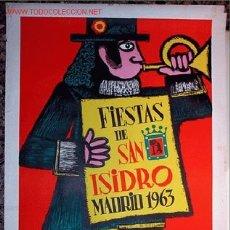 Carteles Feria: CARTEL GRAND, MADRID SAN ISIDRO 1963. Lote 5241317