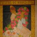 Carteles Feria: RARO Y EXCEPCIONAL CARTEL FIESTAS DE MAYO VALENCIA 1926. DIBUJO J.BARREIRA. 160X120. Lote 23148770