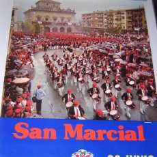 Carteles Feria: GRAN CARTEL FIESTAS SAN MARCIAL, IRUN, FIESTAS JUNIO 1978. Lote 25612332