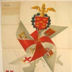 Carteles Feria: CARTEL FERIA MUESTRAS DE MURCIA 1954 , ILUSTRADO POR ALAORDEN. Lote 15657870