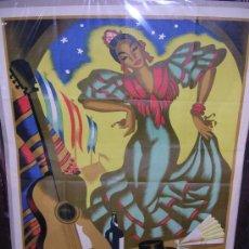 Carteles Feria: JEREZ FIESTAS DE PRIMAVERA 1952, OMP. ORLA, JEREZ, ILUSTRADOR CARLOS GALLEGOS (NO COPIA). Lote 16480132